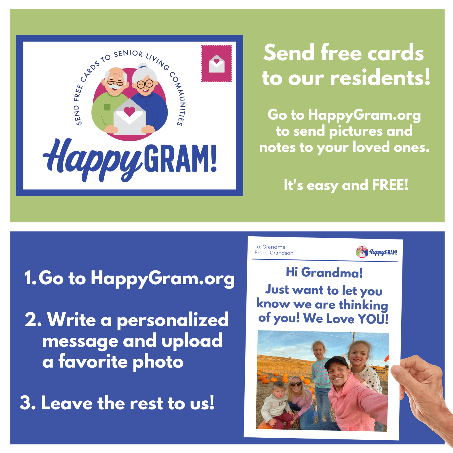 HappyGram New Community Postcard
