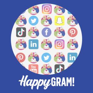 HappyGram and Social Media