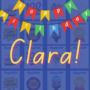Happy Birthday Clara!