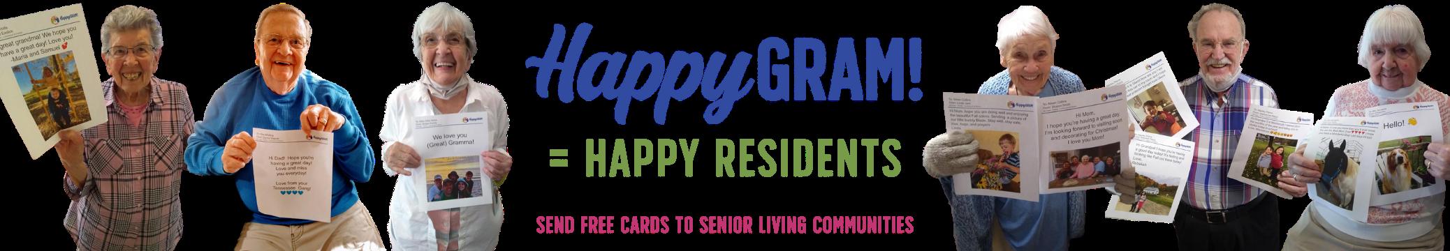 www.HappyGram.org - Send Free Cards to Senior Living Communities